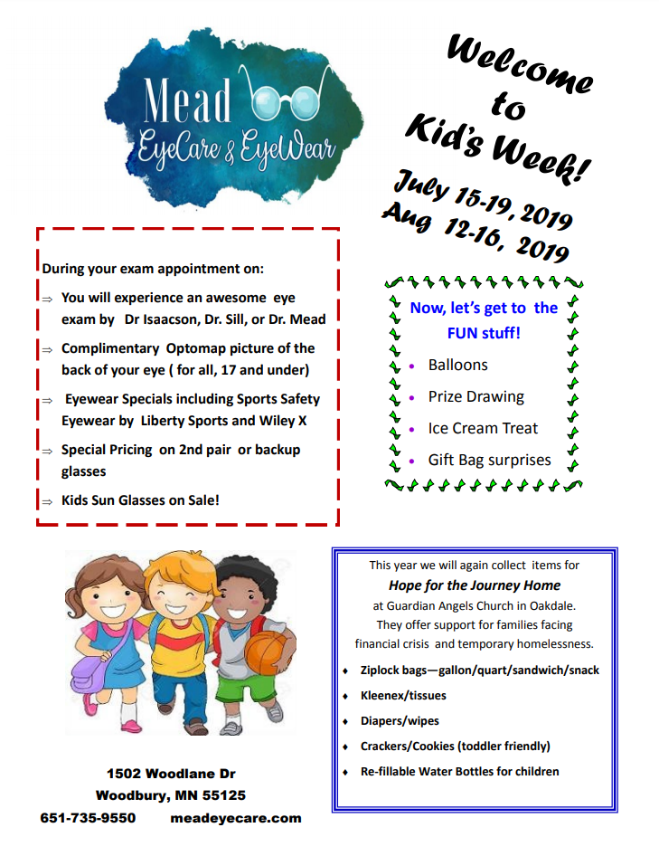 Kid's week promotion